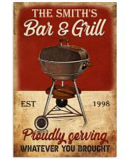BAR AND GRILL  - CUSTOM NAME 11x17 Poster front