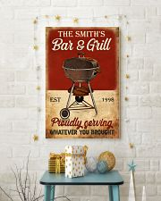 BAR AND GRILL  - CUSTOM NAME 11x17 Poster lifestyle-holiday-poster-3
