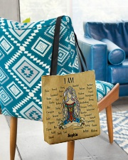 Yoga Girl Leather Pattern Print Custom Name All-over Tote aos-all-over-tote-lifestyle-front-01