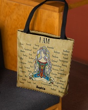 Yoga Girl Leather Pattern Print Custom Name All-over Tote aos-all-over-tote-lifestyle-front-02