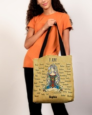 Yoga Girl Leather Pattern Print Custom Name All-over Tote aos-all-over-tote-lifestyle-front-06