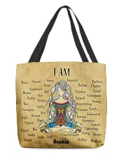 Yoga Girl Leather Pattern Print Custom Name All-over Tote front