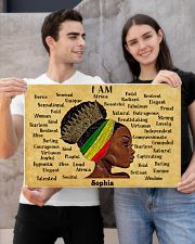 AFRO GIRL - I AM  - CUSTOM NAME 24x16 Poster poster-landscape-24x16-lifestyle-21