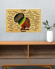 AFRO GIRL - I AM  - CUSTOM NAME 24x16 Poster poster-landscape-24x16-lifestyle-25