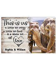 ELEPHANT COUPLE  - CUSTOM NAME 24x16 Poster front