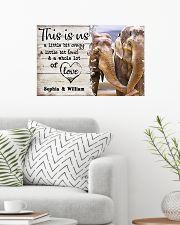 ELEPHANT COUPLE  - CUSTOM NAME 24x16 Poster poster-landscape-24x16-lifestyle-01