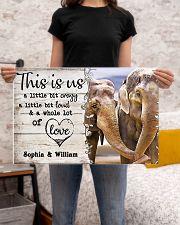ELEPHANT COUPLE  - CUSTOM NAME 24x16 Poster poster-landscape-24x16-lifestyle-20