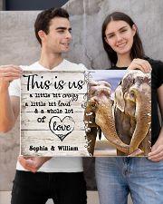 ELEPHANT COUPLE  - CUSTOM NAME 24x16 Poster poster-landscape-24x16-lifestyle-21