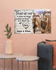 ELEPHANT COUPLE  - CUSTOM NAME 24x16 Poster poster-landscape-24x16-lifestyle-22