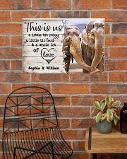 ELEPHANT COUPLE  - CUSTOM NAME 24x16 Poster poster-landscape-24x16-lifestyle-24