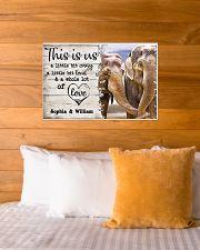 ELEPHANT COUPLE  - CUSTOM NAME 24x16 Poster poster-landscape-24x16-lifestyle-27