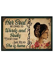 HER SOUL BELONGS TO WORDS AND BOOKS 24x16 Poster front