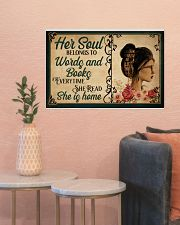 HER SOUL BELONGS TO WORDS AND BOOKS 24x16 Poster poster-landscape-24x16-lifestyle-22