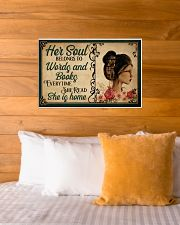 HER SOUL BELONGS TO WORDS AND BOOKS 24x16 Poster poster-landscape-24x16-lifestyle-27