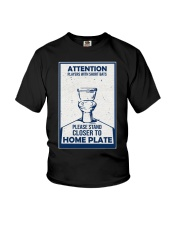 BATHROOM POSTER Youth T-Shirt tile