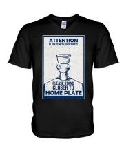 BATHROOM POSTER V-Neck T-Shirt tile