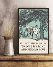 AND INTO THE BARN I GO TO LOSE MY MIND  11x17 Poster lifestyle-poster-3