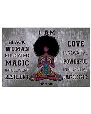 AFRICA YOGA GIRL - I AM  - CUSTOM NAME 24x16 Poster front