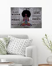 AFRICA YOGA GIRL - I AM  - CUSTOM NAME 24x16 Poster poster-landscape-24x16-lifestyle-01