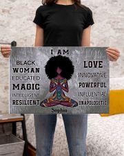 AFRICA YOGA GIRL - I AM  - CUSTOM NAME 24x16 Poster poster-landscape-24x16-lifestyle-20