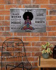 AFRICA YOGA GIRL - I AM  - CUSTOM NAME 24x16 Poster poster-landscape-24x16-lifestyle-24