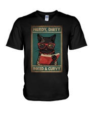 NERDY DIRTY INKED CURVY V-Neck T-Shirt tile