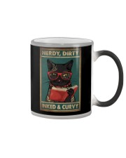 NERDY DIRTY INKED CURVY Color Changing Mug tile