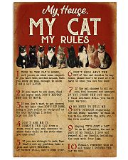 MY HOUSE MY CAT MY RULES 11x17 Poster front