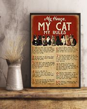 MY HOUSE MY CAT MY RULES 11x17 Poster lifestyle-poster-3
