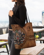 Yoga Leather Pattern Print All-over Tote aos-all-over-tote-lifestyle-front-04