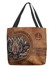 Yoga Leather Pattern Print All-over Tote back