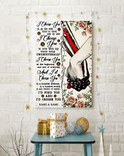 FIREFIGHTER COUPLE  - CUSTOM NAME 11x17 Poster lifestyle-holiday-poster-3