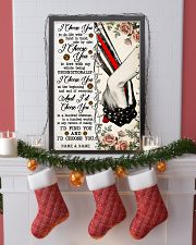 FIREFIGHTER COUPLE  - CUSTOM NAME 11x17 Poster lifestyle-holiday-poster-4