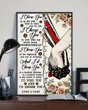 FIREFIGHTER COUPLE  - CUSTOM NAME 11x17 Poster lifestyle-poster-2