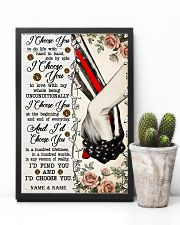 FIREFIGHTER COUPLE  - CUSTOM NAME 11x17 Poster lifestyle-poster-8
