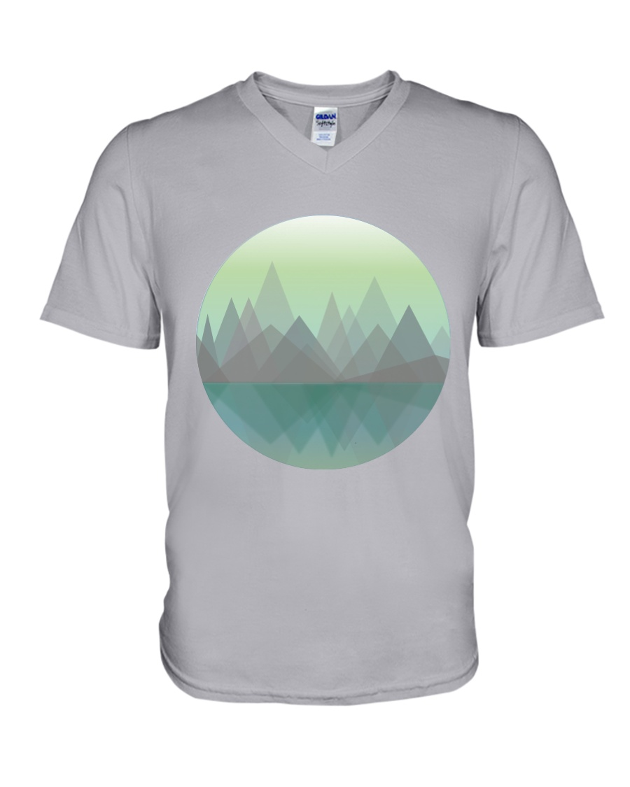 Lakeside Mountain V-Neck T-Shirt