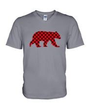 Red Flannel Bear - The Creative Mojo V-Neck T-Shirt thumbnail