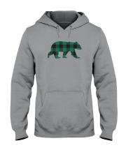 Green Flannel Bear Hooded Sweatshirt thumbnail