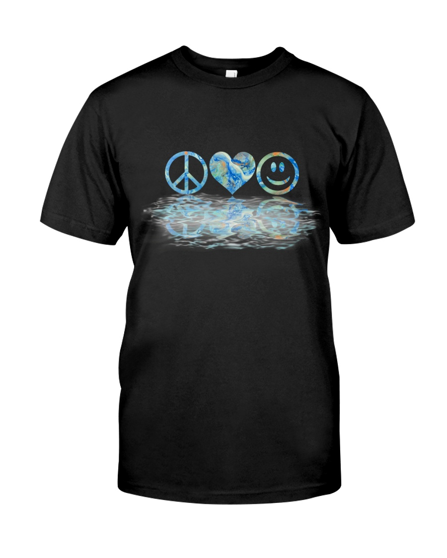 PEACE LOVE SMILE Classic T-Shirt