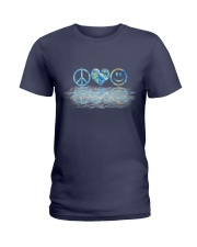 PEACE LOVE SMILE Ladies T-Shirt thumbnail