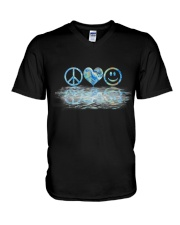 PEACE LOVE SMILE V-Neck T-Shirt thumbnail