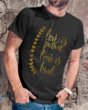 LOVE IS PATIENT LOVE IS KIND Classic T-Shirt lifestyle-mens-crewneck-front-4