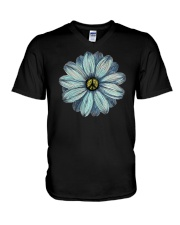Flower Peace V-Neck T-Shirt thumbnail