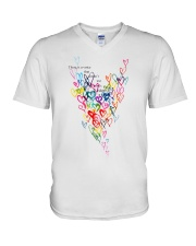 There Is A Voice Listen Love V-Neck T-Shirt thumbnail