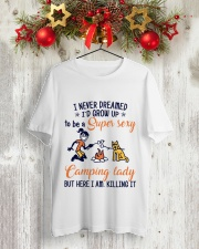 Camping Lady Classic T-Shirt lifestyle-holiday-crewneck-front-2