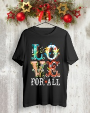 LOVE FOR ALL Classic T-Shirt lifestyle-holiday-crewneck-front-2