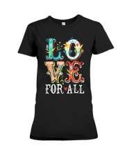 LOVE FOR ALL Premium Fit Ladies Tee thumbnail