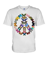 BUTTERFLY PEACE V-Neck T-Shirt thumbnail