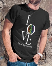 LOVE IS ALL YOU NEED Classic T-Shirt lifestyle-mens-crewneck-front-4