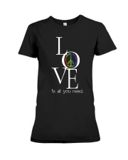 LOVE IS ALL YOU NEED Premium Fit Ladies Tee thumbnail